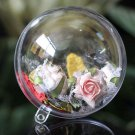 10x Clear Fillable Candy Box Christmas Bauble Xmas Tree Ball Ornament DecorATUJ