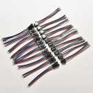 20X Male&Female 4 Pin Connector with wire for 5050/3528 RGB Led Driver/StripATBD