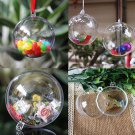10pcs Clear Fillable Candy Box Christmas Bauble Xmas Tree Ball Ornament Decor AT