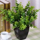 7-Branches Artificial Fake Plastic Silk Eucalyptus Plant Flowers Home DecorATUJ