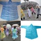 10x Adult Emergency Waterproof  Disposable Rain Coat Poncho Hiking Camping ATUJ
