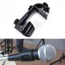 Plastic Adjustable Clip On Drum Rim Shock Mount Microphone Mic Clamp HolderATBD