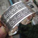 New Fashion Women Chinese Totem Bangle Cuff Bracelet Tibetan Tibet silver ATBD