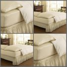 Easy Fit 11577QUEEN/KINGIV Wrap Around Solid Ruffled Queen/King Bed Skirt...