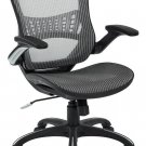 Office Star Mesh Back & Seat, 2-to-1 Synchro Lumbar Support Managers Chair, Grey