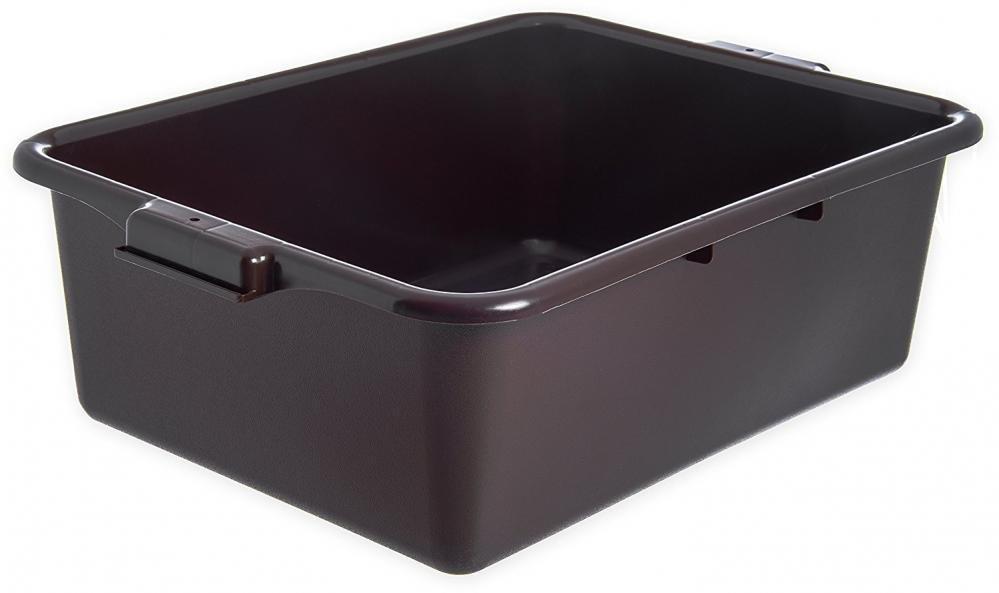 Pack of 12 Carlisle Brown Comfort Curve Bus Home Kitchen Tableware Box/Tote Box