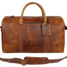Luggage Carry On Airplane Underseat Leather Travel Duffle Bag Overnight Weekend