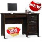 Sauder New Cottage Desk Antiqued Black Paint Home Indoor Office Furniture New