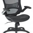 Office Star Mesh Back & Seat, 2-to-1 Synchro Lumbar Support Managers Chair,...