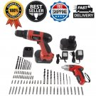 74-Piece Project Kit Stalwart 12-Volt Cordless Drill and 3.6-Volt Driver Tools