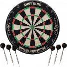 Viper Shot King Sisal/Bristle Steel Tip Dartboard with Staple-Free Bullseye...