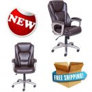 Serta Big Tall Commercial Executive Office Chair with Memory Foam Home Adjust