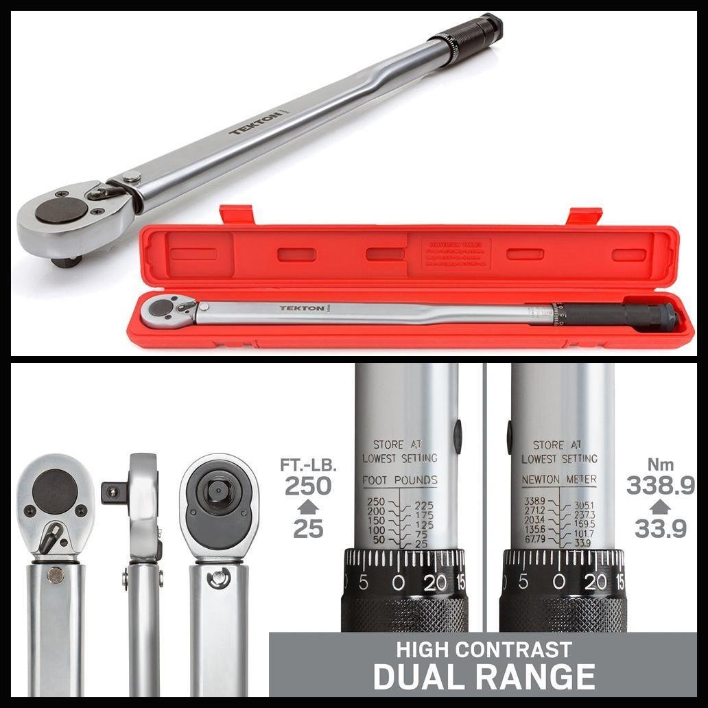 New Click Torque Wrench High-contrast Dual-range 1/2-Inch All-Steel Drive Tool