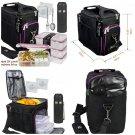 A2S Complete Meal Prep Lunch Box - 8 Pcs Set: Cooler Bag 3x Portion Control...