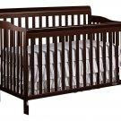 Dream On Me Ashton 5 in 1 Convertible Crib, Espresso