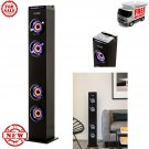 ART+SOUND AR1004 Wall Powered Bluetooth Tower Speaker with Lights, Works...