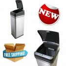 Deodorizer Infrared Sensor Automatic Touchless Trash Can 13 Gal Stainless Steel