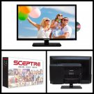"Sceptre 24"" 1080P Full HD LED TV Class FHD Flatscreen with Built-in DVD Driver"
