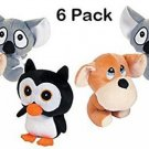 Six Pieces Stuffed Animals With Big Head Assorted Colored Gift Toy New
