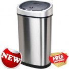 Nine Stars Motion Sensor Slim Touchless 13 Gallon Trash Can Stainless Steel New