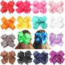 16 pcs 8 inches Huge Big Bow Clip Boutique Hair Bows For Girls Kids Children...