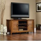 "TV Stand TVs up to 47"" Sauder Cherry Panel Media Console home Storage table rack"