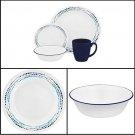 Corelle Livingware 16-Piece Dinnerware Set, Ocean Blues, Service for 4