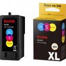 Kodak Verite 5 Replacement Inks (ALT1UA) XL Color Ink Jet Cartridge...