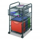 Safco Products 5213BL Onyx Mesh File Cart with 1 Drawer and 2 Storage...