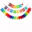 Happy Birthday Decorations Banner,Rainbow Paper Garland For Party Supplies
