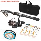 PLUSINNO Telescopic Fishing Rod and Reel Combos FULL Kit, Spinning Gear...