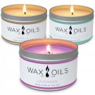 Wax and Oils Soy Aromatherapy Scented Candles, Lavender, Vanilla &...