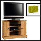 Indoor home media Storage Console Furniture Corner TV Stand  Highland Oak new