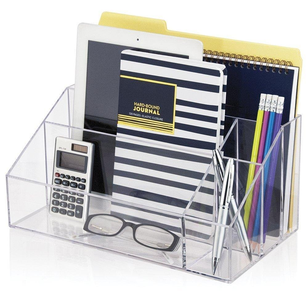 Premium Quality Clear Plastic Craft and Desktop Organizer