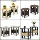 Furinno End Table Bedroom Night Stand Cabinet Drawer Storage Furniture 2 set new