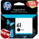HP 61 Black Original Ink Cartridge Home Office School Color Printing Supplies
