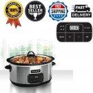Crock-Pot 8-Quart Programmable Kitchen Countertop Stainless Steel Slow Cooker US