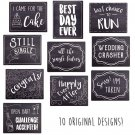 Wedding Photo Booth Sign Props - Set of 5 Double Sided, Chalkboard Style...