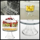 New Clear Glass Monaco  Serving Tabletop Kitchen Dinning Dessert Trifle Bowl US