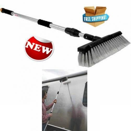 Camco RV Wash Brush Adjustable Handle Outdoor Vehicle Auto Cleaner Tool New