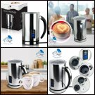 Automatic Electric Milk Frother & Warmer: Digital One Touch Stainless Steel...