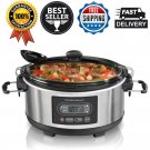 Hamilton Beach Stay Go 5-Qrt Programmable Stainless Steel Slow Cooker Countertop