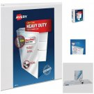 Avery Heavy-Duty View Binder with 4 Inch One Touch EZD Ring, White, 1 Pack New