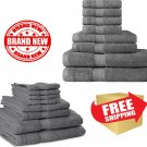 Premium 8 Piece Towel Set (Grey); 2 Bath Towels, Hand Towels and 4...