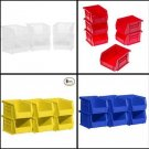 6 Pack Plastic Storage Stacking AkroBins for Craft and Hardware Container Bin