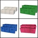 6 Pack set Foldable Cloth Storage Cube Basket Bins Organizer Containers Drawers
