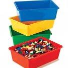 Tot Tutors Kids' Primary Colors Small Storage Bins, Set of 4