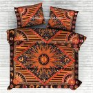 Bohemian Indian Handmade Doona Cover The Burning Sun Queen Duvet Comforter Set
