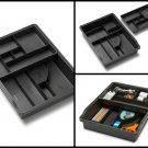 Madesmart Granite Home Kitchen Junk Drawer Organizer With Removable Top Tray