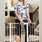 "Regalo Easy Step baby safety Walk Thru Gate White Fits 29"" and 39"" Wide Doorway"